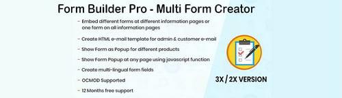 Form Builder - Multi Form Creator OpenCart