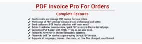 PDF Invoice Pro For Orders