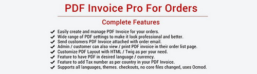 PDF Invoice Pro For Orders: Multiple Features
