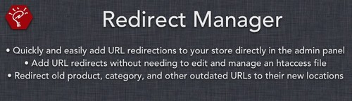 Redirect Manager OpenCart