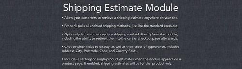 Shipping Estimate Module v155.1