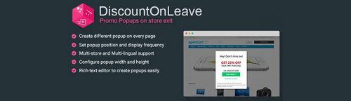 DiscountOnLeave - Recover Abandoning Visitors v1.1.6, v2.1.3, v3.1.3 (Nulled)