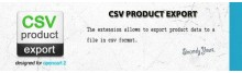 CSV Product Export