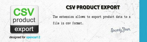 CSV Product Export OpenCart v3.2.13, v4.3.1
