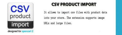CSV Product Import OpenCart v3.7.5, v4.3.1