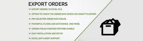 Export Orders OpenCart