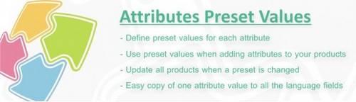 Attributes Preset Values OpenCart v1.6