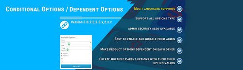 Conditional Options / Dependent Options OpenCart