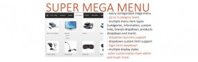 Super Mega Menu V2.4 OpenCart Module