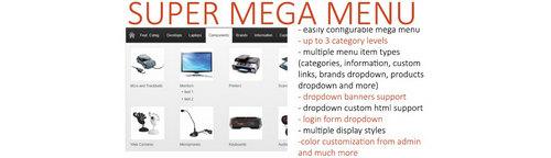 Super Mega Menu OpenCart V2.4