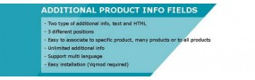 Additional Product Info Fields