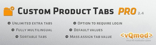 Custom Product Tabs PRO / Unlimited Tabs v2.1.1, v2.4.5, v2.4.9