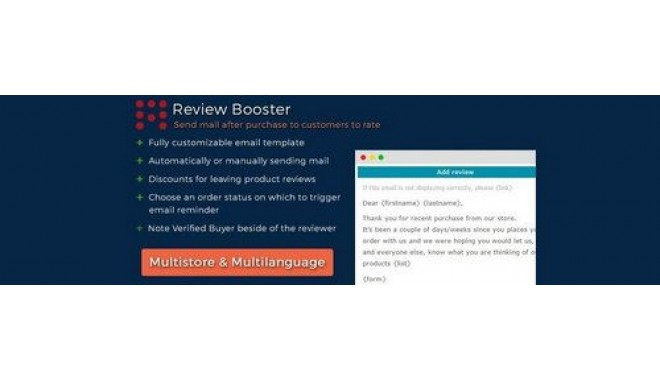 Review Booster | Order Reviews for OpenCart v1 5 v - v3 0 x