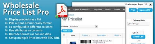 Wholesale Price List Pro OpenCart v1.4.5