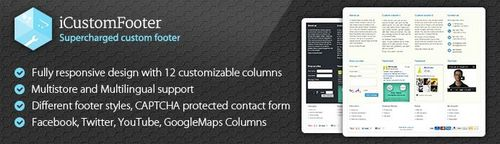 iCustomFooter - Exclusive Powerful Custom Footer v2.0.7, v3.4.2, v4.4.2 (Nulled)