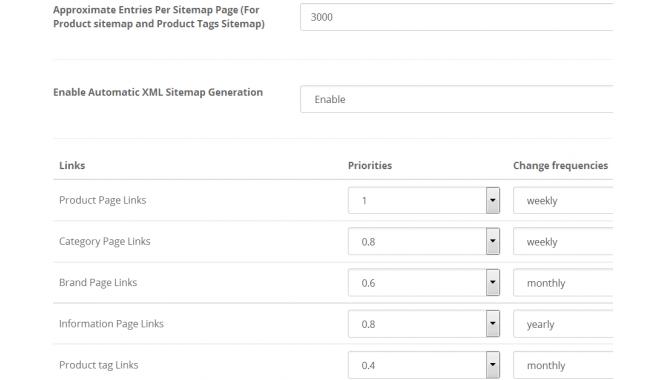 seo xml sitemap generator pro unlimited links opencart