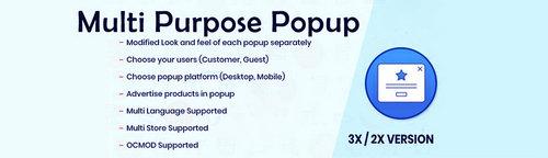 Multi Purpose Popup - Advertisement Popup OpenCart