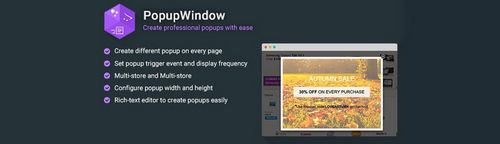 PopupWindow - Create Professional Popups with Ease v1.3.1, v2.3.9, v3.3.3 (Nulled)