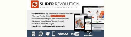 Slider Revolution Responsive Opencart Module v4.7.0, v5.4.2