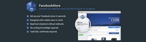 FacebookStore - Connect Your OC Store and Sell Products on FB v1.1.2, v2.5.10, v3.0.10 (Nulled)