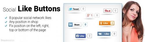 Social Like Buttons OpenCart v2.0