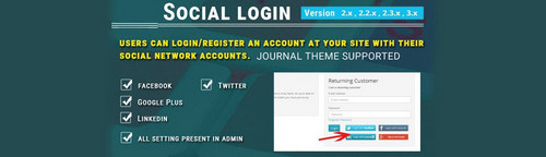 Social Login - Facebook, Google, Twitter and LinkedIn
