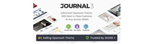 Journal - Advanced Opencart Theme v2.16.8, v3.0.46 (Nulled) with All Demo