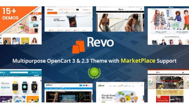 Revo - Drag & Drop Multipurpose for OpenCart OC2 3 x, OC3 x